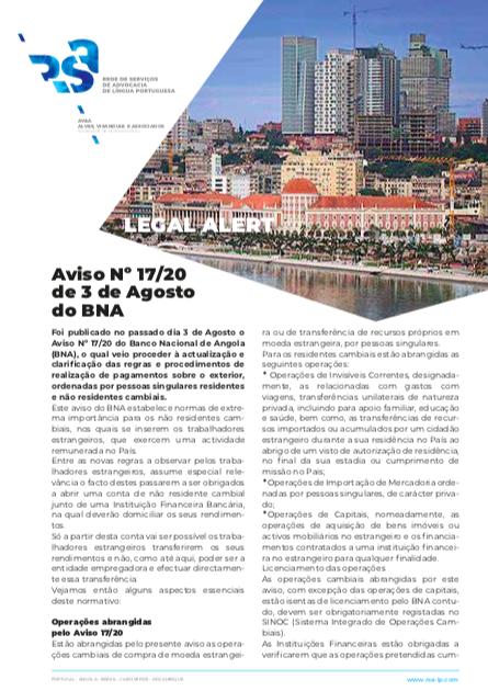 Capa LEGAL ALERT Angola
