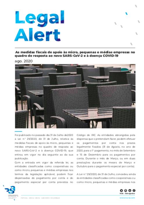 As medidas fiscais de apoio às micro, pequenas e médias empresas no quadro de resposta ao novo SARS-CoV-2 e à doença COVID-19