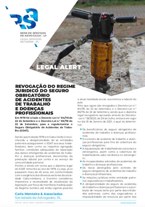 Revogação do regime jurídico do seguro obrigatório de acidentes de trabalho e doenças profissionais