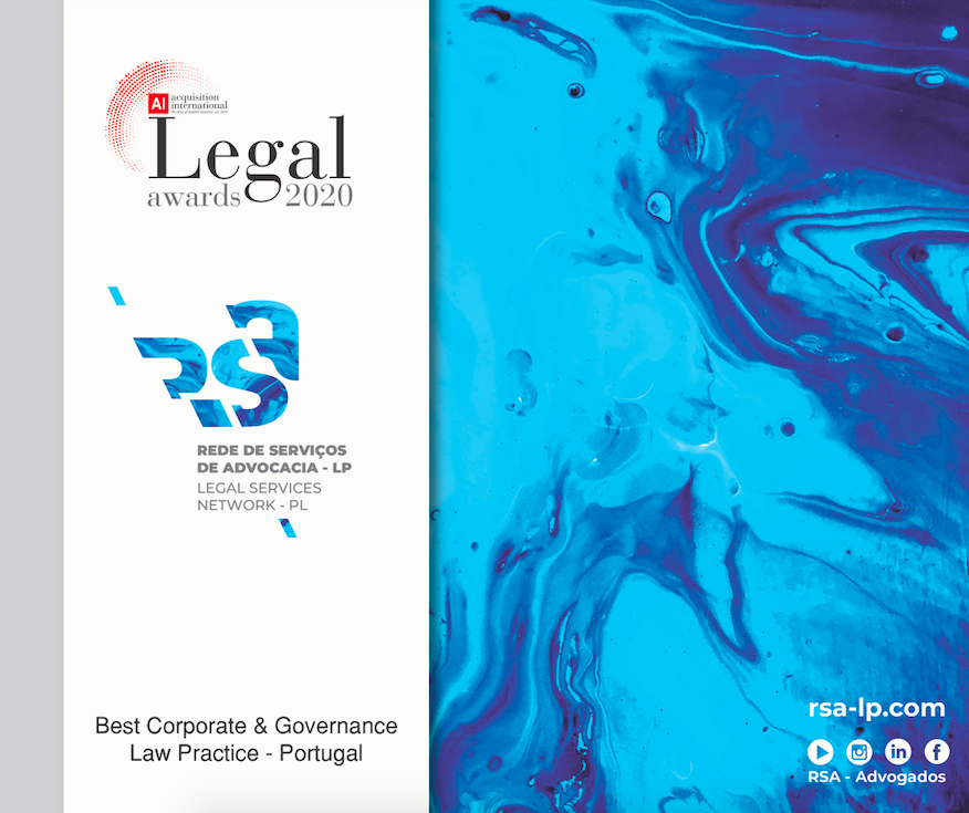 AI Legal Awards 2020 distingue RSA - Best Corporate &Governance Law Practise