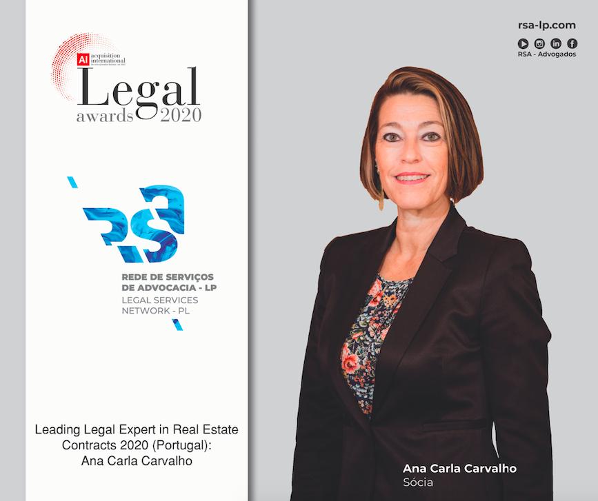 Ana Carla Carvalho distinguida pelos Ai Legal Awards 2020