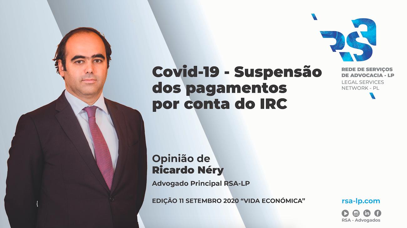 Suspensão dos pagamentos por conta do IRC