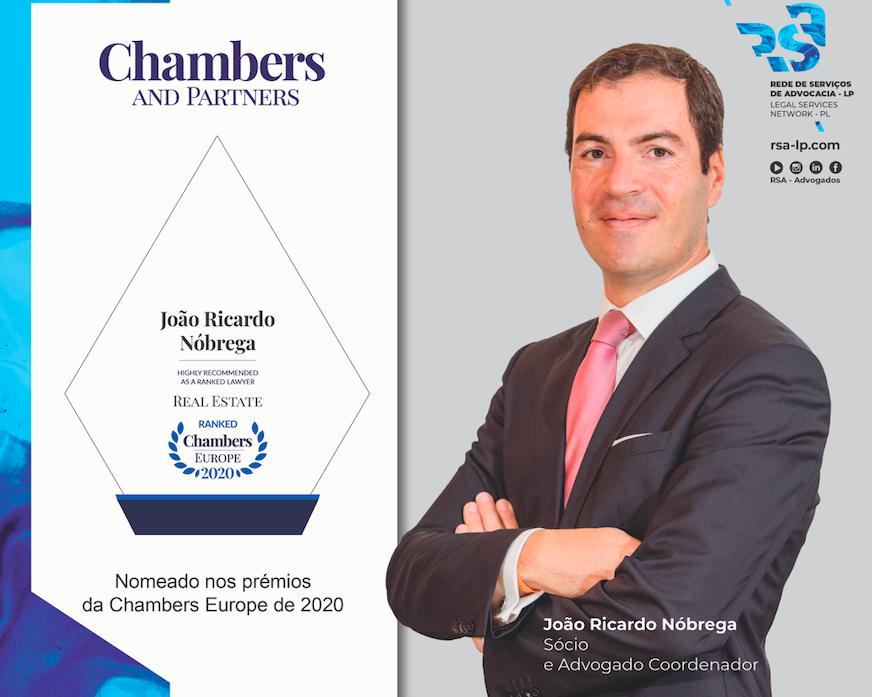 João Ricardo Nóbrega nomeado pelos prémios Chambers Europe 2020
