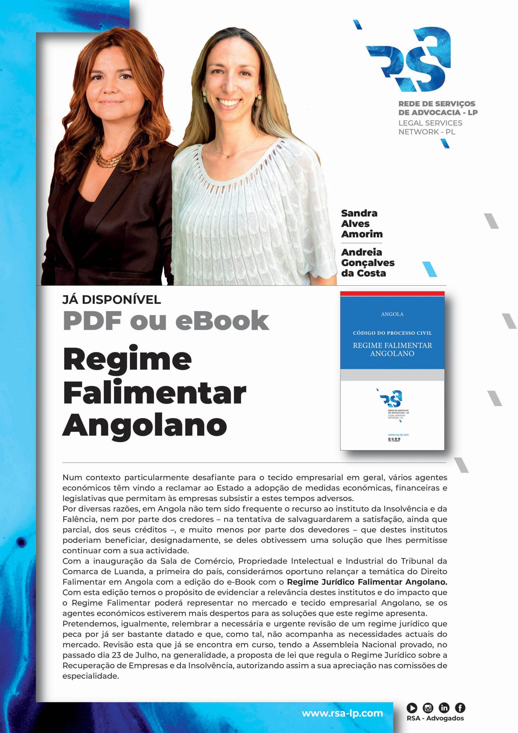 Ebook sobre Regime Falimentar em Angola