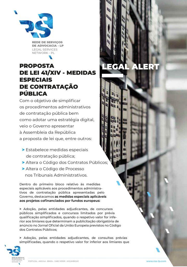 Proposta De Lei 41/XIV - Medidas Especiais de Contratação Pública