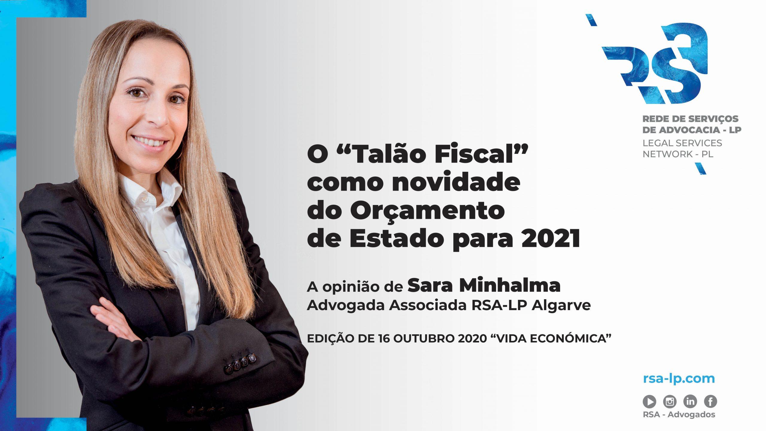 Artigo de Sara Minhalma para a revista Vida Económica