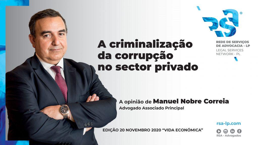 A Criminalização da Corrupção no Sector Privado