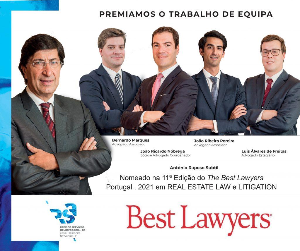 Equipa RSA nomeada pela Best Lawyers