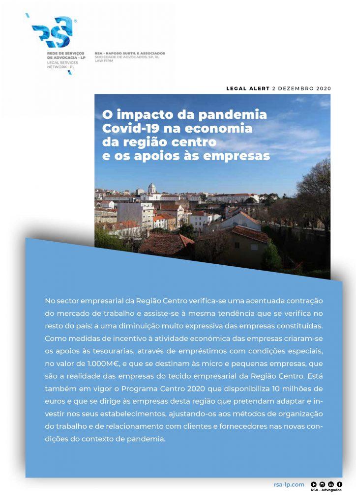 O impacto da pandemia Covid-19 na economia da região centro e os apoios às empresas