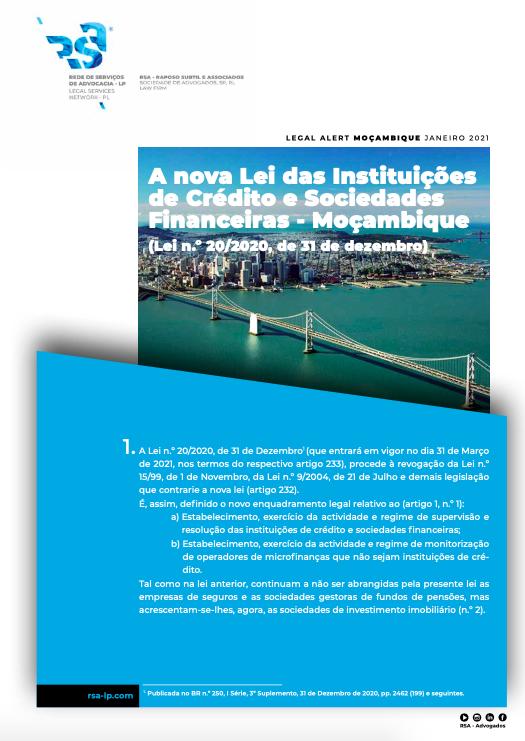 Moçambique - A nova Lei das Instituições de Crédito e Sociedades Financeiras