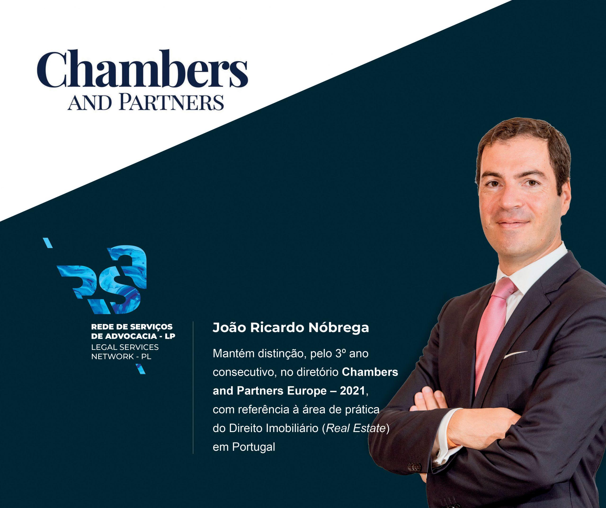 João Ricardo Nóbrega distinguido pela Chambers and Partners - Direito Imobiliário