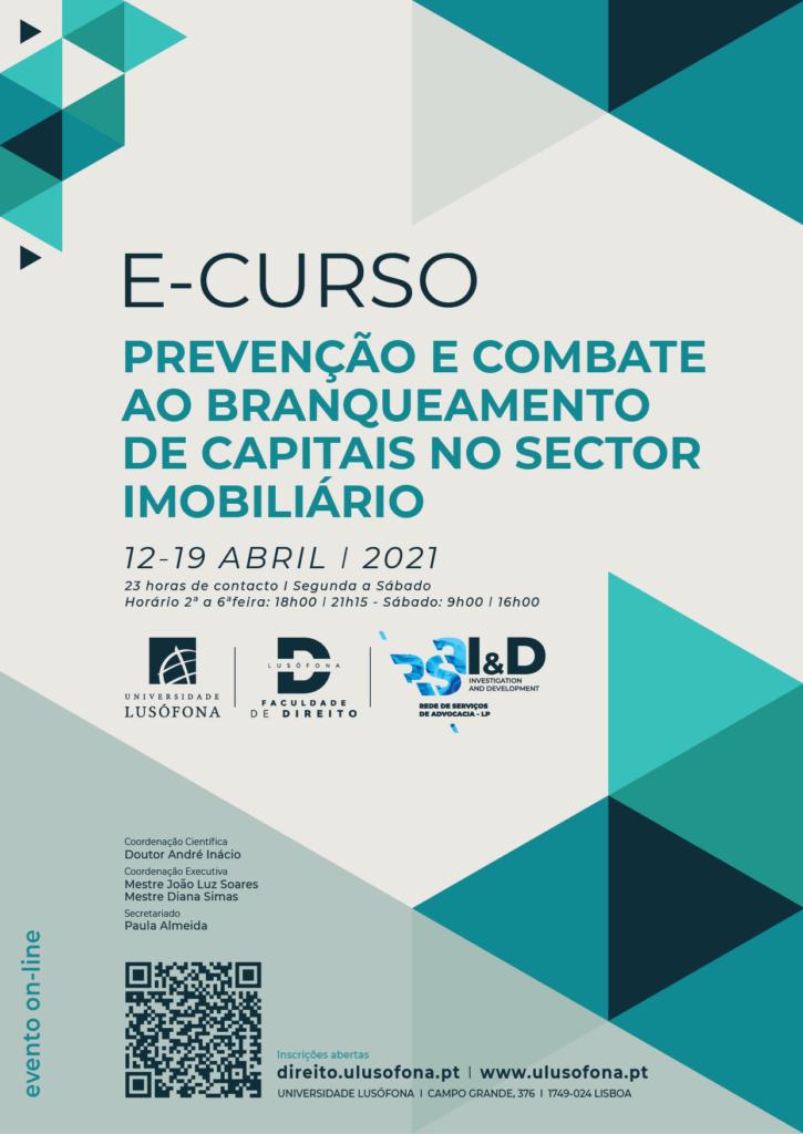 E-Curso de Prevenção e Combate ao Branqueamento de Capitais no Sector Imobiliário