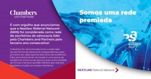 Somos uma rede premiada - Nextlaw Referral Network distinguida pela Chambers and Partners