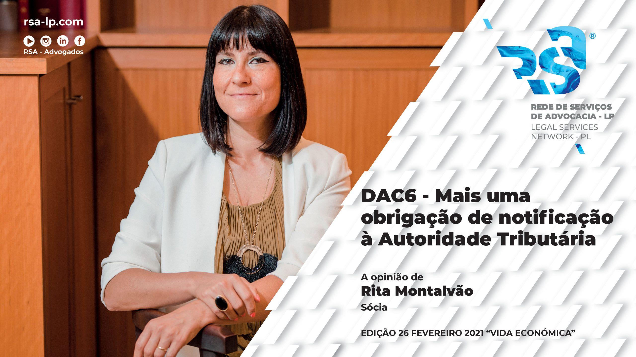 DAC6 - Mais uma obrigação de notificação à Autoridade Tributária