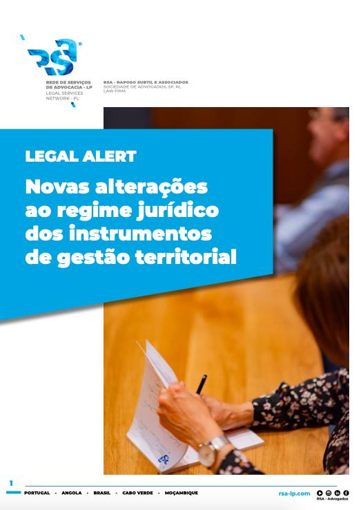 Legal Alert - Novas alterações ao regime jurídico dos instrumentos de gestão territorial