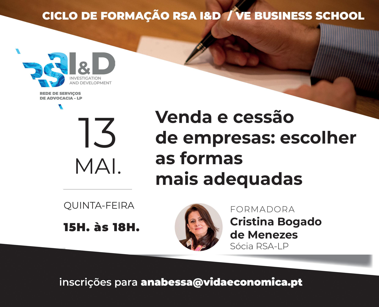 Venda e cessão de empresas: escolher as formas mais adequadas - E-Learning com Cristina Bogado Menezes