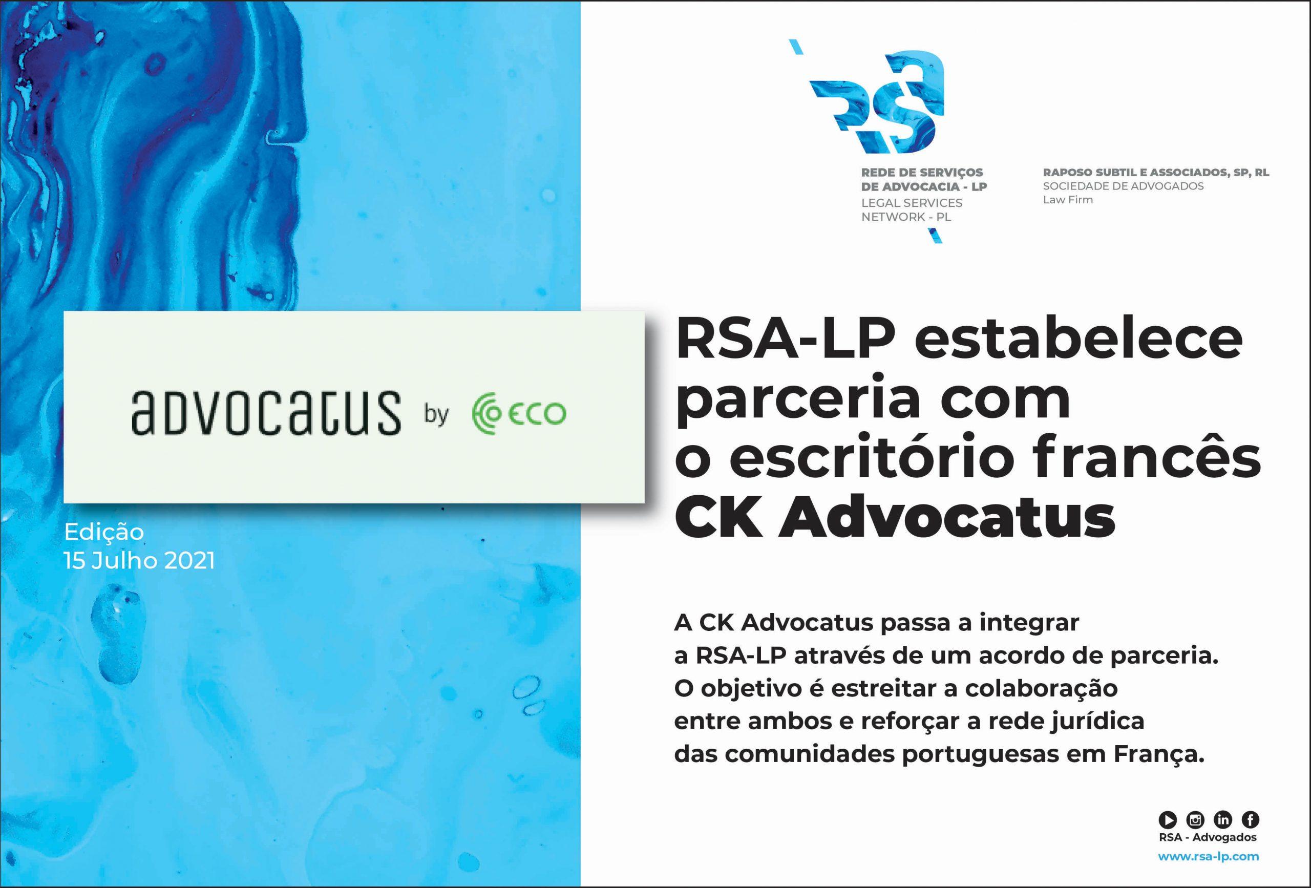 CK Advocatus passa a integrar a RSA - Rede de Serviços de Advocacia