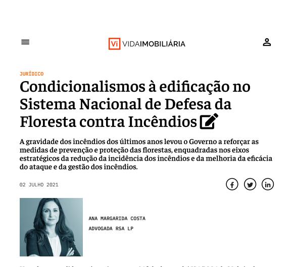 Condicionalismos à edificação no Sistema Nacional de Defesa da Floresta contra Incêndios